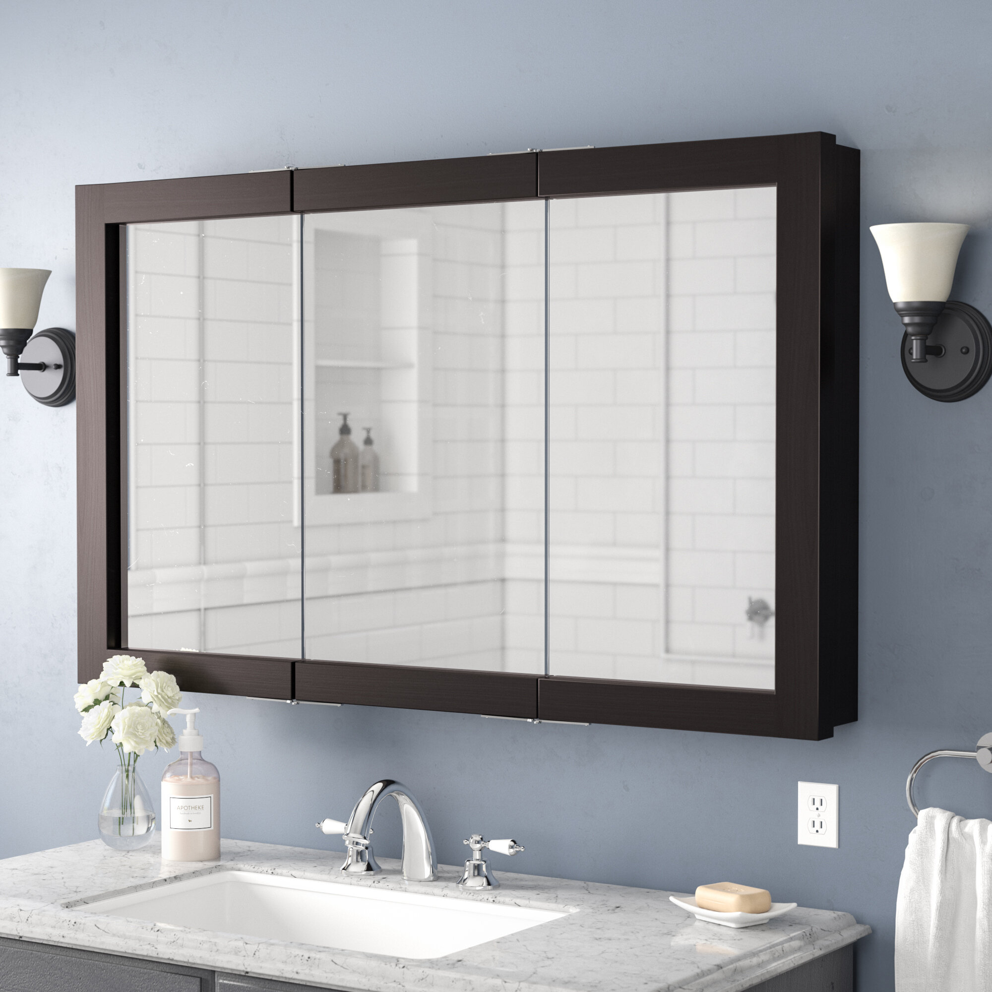 Bathroom Cabinet With Mirror Sale Kitchen And Bath