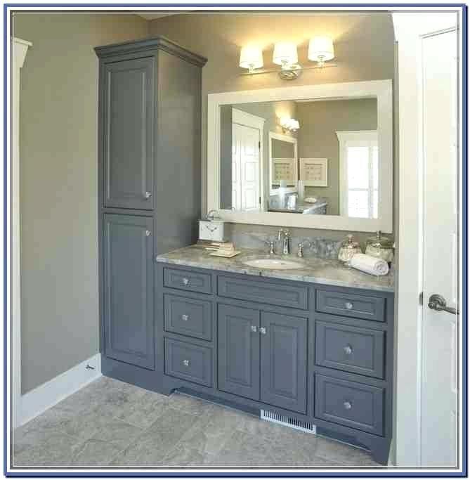 Bathroom Vanity And Side Cabinet