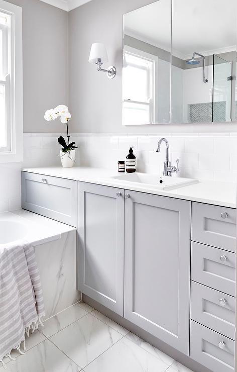 Grey Bathroom Cabinets Tile Ideas